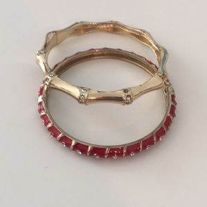 Red and gold bangle set